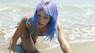 Bikini azul - Tigresa